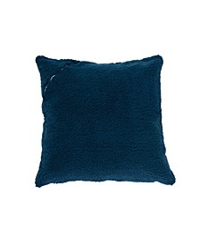 Sherpa X-Large Square Storage Floor Pillow with Pocket