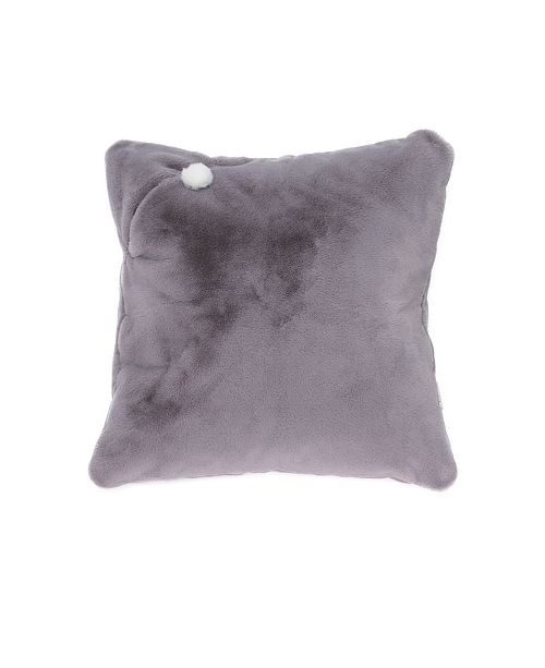Mimish Rabbit Faux Fur X-Large Square Storage Floor Pillow with Pocket