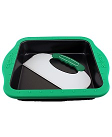 """BergHOFF Perfect Slice 9"""" Square Cake Pan with Silicone Sleeve"""