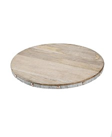 Mind Reader Wood Lazy Susan Turntable