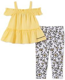Calvin Klein Baby Girls 2-Pc. Cold-Shoulder Tunic & Floral-Print Leggings Set
