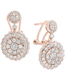 Rock Candy by EFFY® Diamond Cluster Drop Earrings (2-1/10 ct. t.w.) in 14k White, Rose, or Yellow Gold