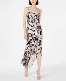 Adrianna Papell Embellished Asymmetrical Dress