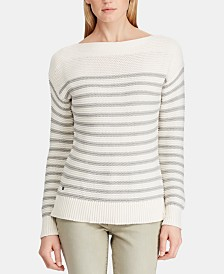 Lauren Ralph Lauren Boat Neck Cotton Sweater