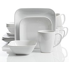 Square Dance 16-piece Cobalt Dinnerware Set