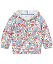 6369c8b9c Polo Ralph Lauren Baby Girls Floral Cotton French Terry Hoodie