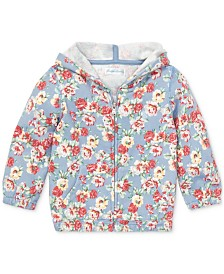 Polo Ralph Lauren Baby Girls Floral Cotton French Terry Hoodie