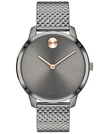Women's Swiss BOLD Gray Ion-Plated Steel Bracelet Watch, 35mm