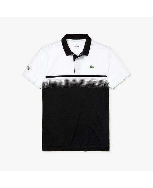 Lacoste Men's Sport Ultra Dry Gradient Chest-Print Polo Shirt