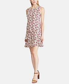 American Living Tiered Floral-Print Dress