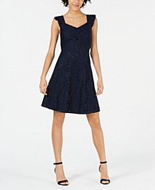 Petite Lace Fit & Flare Dress