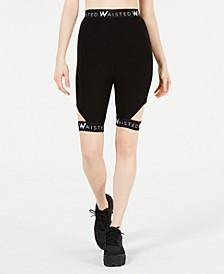 Cutout Biker Shorts