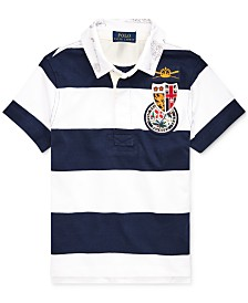 Polo Ralph Lauren Little Boys Striped Cotton Rugby Shirt