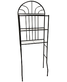 Home Basics 2 Shelf Steel Bathroom Space Saver