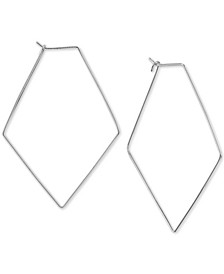 Geometric Hoop Earrings in Sterlng Silver