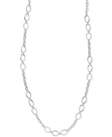 "Fancy Link 36"" Chain Necklace in Sterling Silver"