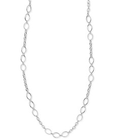 "Argento Vivo Fancy Link 36"" Chain Necklace in Sterling Silver"