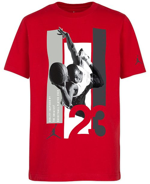 Jordan Big Boys 23-Print Cotton T-Shirt