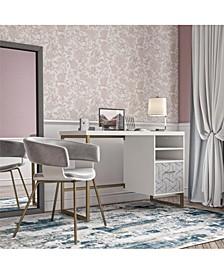 by Cosmopolitan Scarlett Single Pedestal Desk