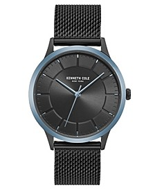 Men's Mesh Bracelet with Classic Dial and Bezel, 41MM