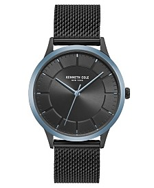 Kenneth Cole New York Men's Mesh Bracelet with Classic Dial and Bezel, 41MM