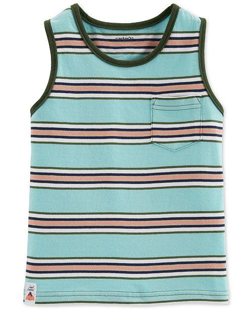 Carter's Toddler Boys Striped Pocket Cotton Tank Top