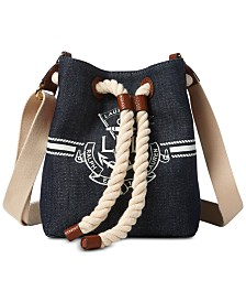 Lauren Ralph Lauren Anchor Debby II Mini Drawstring Bag