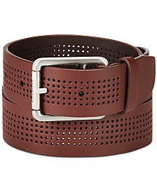 Lacoste Men's Perforated Leather Belt