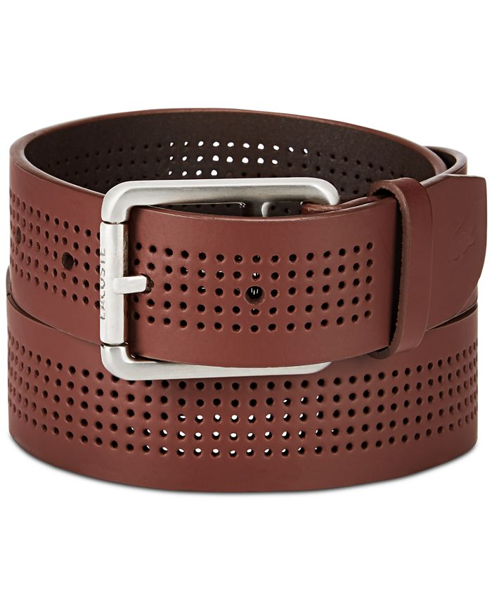 Lacoste - Men's Perforated Leather Belt