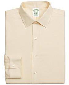 Men's Milano Extra-Slim Fit Non-Iron Yellow Textured Supima Cotton Dress Shirt