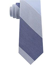 Calvin Klein Men's Classic Colorblocked Jumbo Stripe Tie