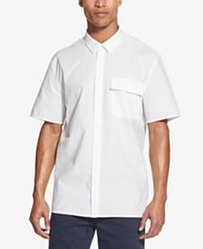 DKNY Men's Seersucker Short Sleeve Shirt