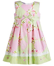 Baby Girls Checkerboard-Print Dress
