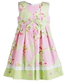 Blueberi Boulevard Baby Girls Checkerboard-Print Dress