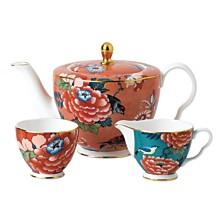 Wedgwood Paeonia Blush 3-Piece Tea Set