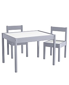 Baby Relax Percy 3-PC Kiddy Table and Chair Set, Gray