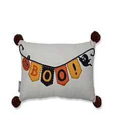 Boo Banner Halloween Decorative Pillow