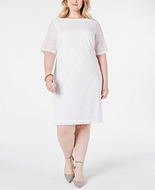 Plus Size Lace Sheath Dress, Created for Macy's