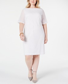 Alfani Plus Size Lace Sheath Dress, Created for Macy's