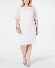 Alfani Plus Size Lace Sheath Dress, Created for Macy's