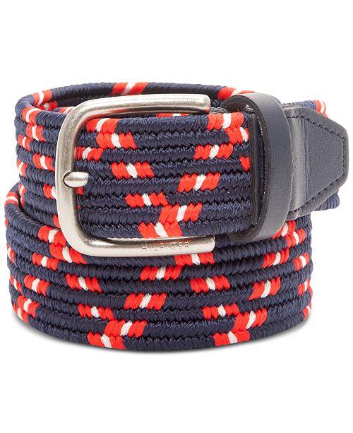 Tommy Hilfiger Men's Comfort Stretch Webbing Casual Belt