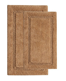 "Saffron Fabs Regency 34"" x 21"" and 36"" x 24"" Non-Skid Cotton Bath Rug"