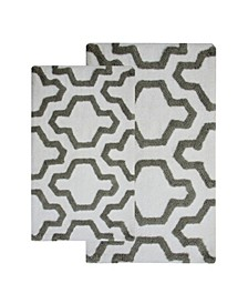 Quatrefoil Non-Skid Cotton Bath Rug Collection