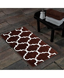 Saffron Fabs Geometric 50' x 30' Non-Skid Cotton Bath Rug