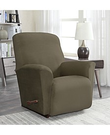 Solid Slipcover Suede Recliner