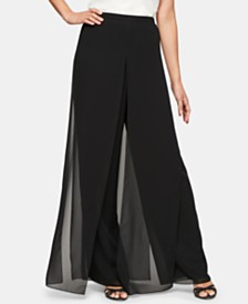 Alex Evenings Wide-Leg Carwash Pants