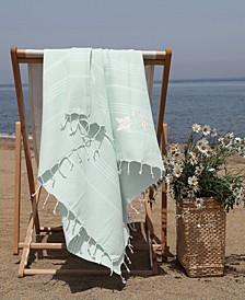 Lucky Glittery Starfish Pestemal Beach Towel