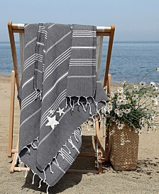 Linum Home Lucky Glittery Starfish Pestemal Beach Towel