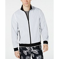 Macys deals on Kenneth Cole New York Mens Contrast Bomber Jacket