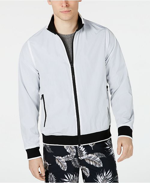 Kenneth Cole Men's Contrast Bomber Jacket